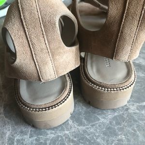 2acd757c418f All Saints Shoes - AllSaints Raquel Platform Sandal in Light Caramel